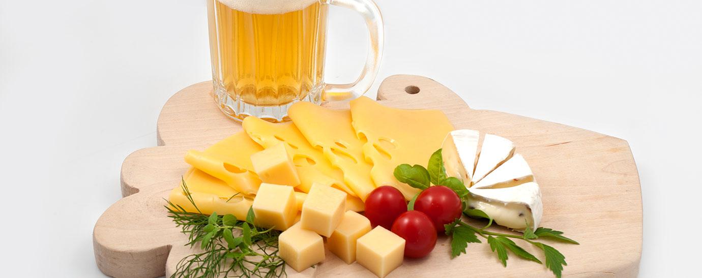 Maridar queso y cerveza